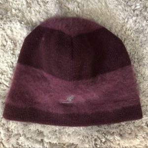 KANGOL fur/wool hat beanie purple